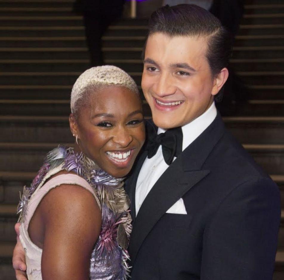 Cynthia Erivo With then boyfriend Dean John Wilson at the opening of Aladdin