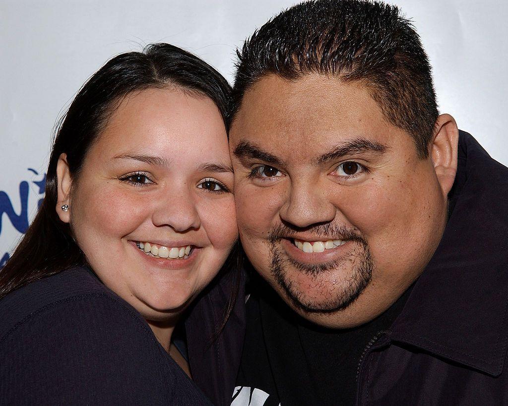 Gabriel Iglesias with his ex-girlfriend Valdez