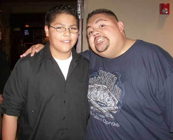 Gabriel Iglesias with his son Frankie Iglesias
